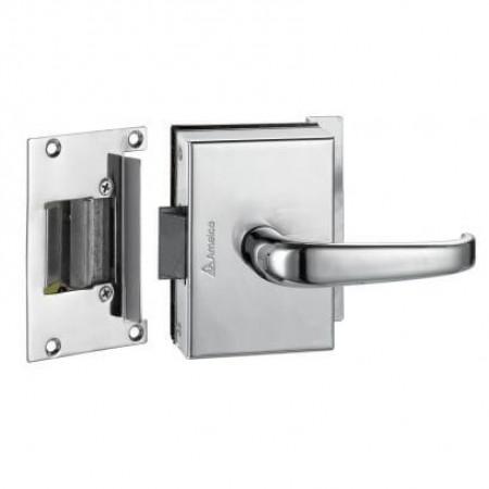 Fechadura porta de vidro 1 Folh/Furo AMELCO Abre para fora - FV34ECRA