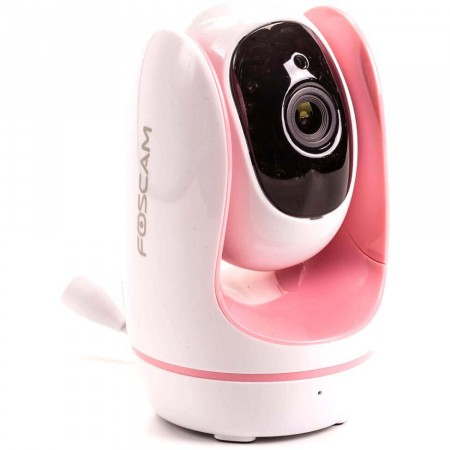 Câmera IP Babá Eletrônica Foscam Fosbaby Rosa