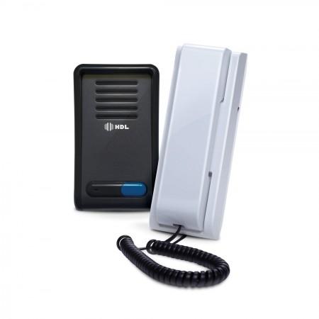 Porteiro Eletrônico F8-SN Grafite com Interfone AZ-S02 Branco