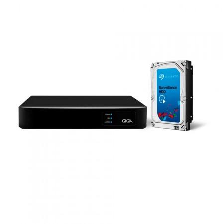 Gravador HVR Digital de Vídeo Híbrido GIGA GS16HD 16 Canais c/ HD 1TB
