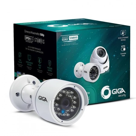 Câmera Bullet Open HD Sony STARVIS Giga Security GS0052 IR 30m Metálica
