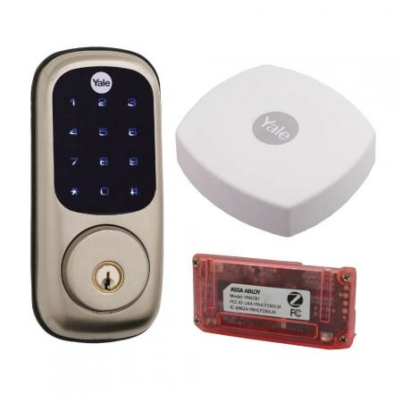 Kit fechadura digital abertura celular internet yale