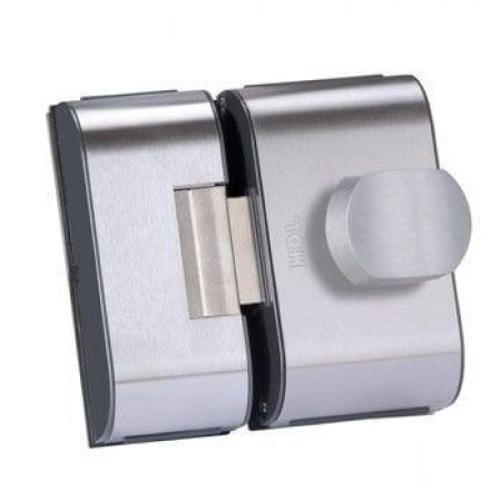 Fechadura para Porta de Vidro HDL PV90 2F-B Inox 2 Folhas e Furos