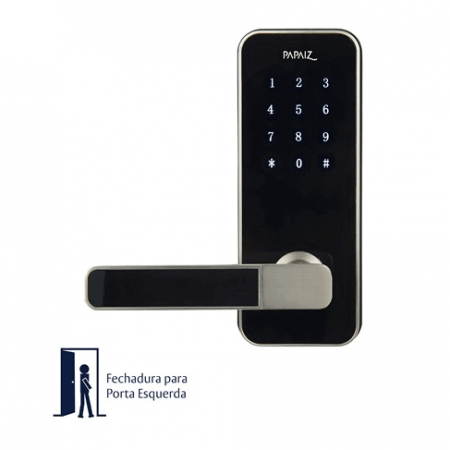 Fechadura Digital Papaiz Smart Lock - Lado Esquerdo