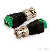 Conector BNC Macho com Borne para CFTV c/ 5 Unidades