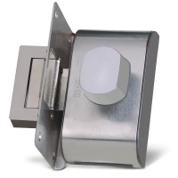Fechadura para Porta de Vidro HDL PV90 1F-B com puxador 90.01.03.094