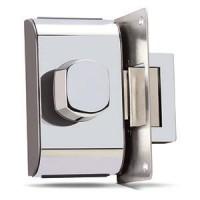 Fechadura para Porta de Vidro HDL PV-90 1F Cromada 1 Folha e Furação 90.01.03.004