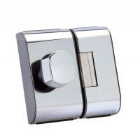 Fechadura para Porta de Vidro HDL PV-90 2R Cromada 90.01.03.001