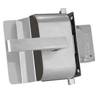Fechadura Porta Vidro HDL PV90 1R-L AF Inox 1 Folha Recorte - Abre para fora