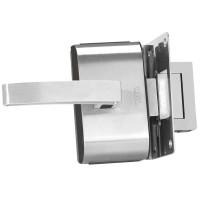 Fechadura para Porta de Vidro HDL PV90 1F-L Inox com 1 Folha e Furos