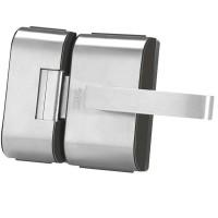 Fechadura para Porta de Vidro HDL PV90 2R-L Inox 2 Folhas e Recorte 90.01.03.083