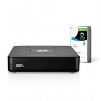 Gravador Digital de Vídeo Giga Security GS0084 Open HD Lite 720P 4 Canais c/ HD de 1TB
