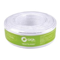 Cabo Coaxial Giga Security 4mm Bipolar Dupla Blindagem GS0226 100m