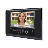 Unidade Interna para Vídeo Porteiro HDL Color Sense Seven S Preta