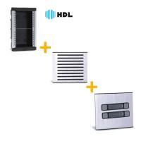 Kit Completo Porteiro Coletivo HDL 4 Pontos