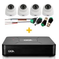 Kit CFTV 4 Canais Giga Security Open HD GS0082+ GS0012