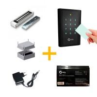 Kit Controle de Acesso Giga GS PROXCT + Fechadura Eletroímã GS0094 c/ Fonte, Bateria e Nobreak