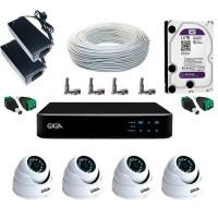 Kit Completo CFTV AHD 720p para 4 Câmeras 30m HD