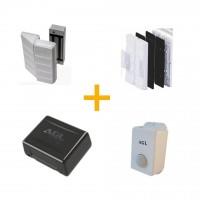 Kit Fechadura Eletroíma 150kg AGL para porta de vidro