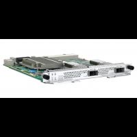 Placa de Interfaces contendo 2 portas de 100GBASE/50GBASE QSFP28