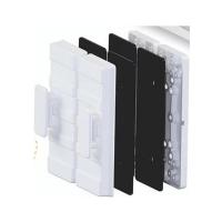 Suporte Fechadura eletroímã PV AGL para porta de vidro preta