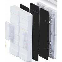 Suporte Fechadura eletroímã AL150 AGL para porta de vidro prata
