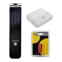 Fechadura Digital Biométrica Yale YMF 40A RL c/ Kit Yale Connect