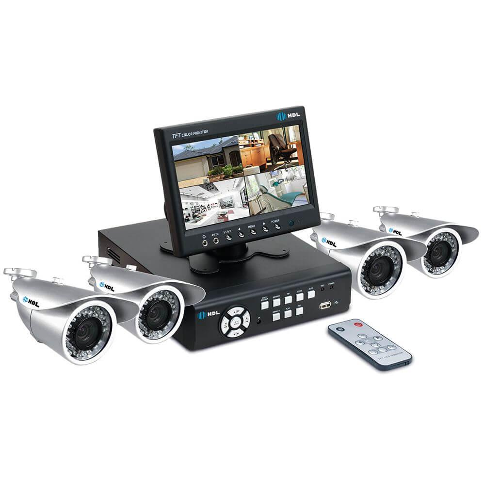 Kit Monitoramento CFTV HDL com 4 Câmeras