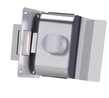 Fechadura para Porta de Vidro HDL PV90 1F - B Inox com Puxador