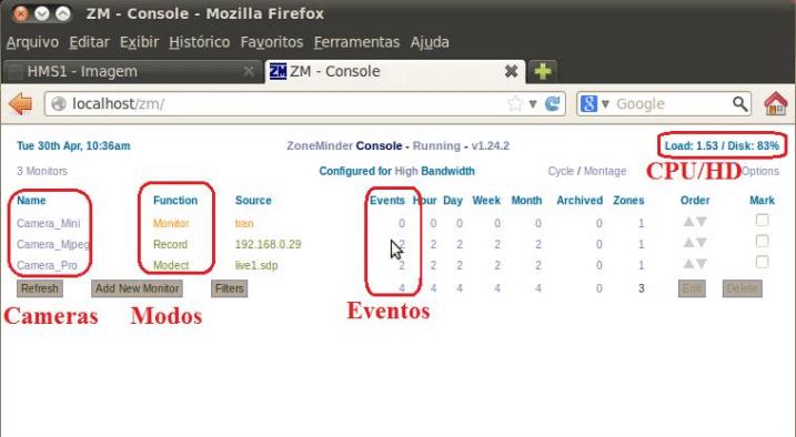 ZoneMinder: CMS CFTV para Linux | SegurancAjato